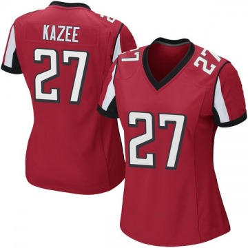 Women's Atlanta Falcons Damontae Kazee Red Game Team Color Jersey By Nike