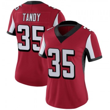 Women's Atlanta Falcons Keith Tandy Red Limited 100th Vapor Jersey By Nike
