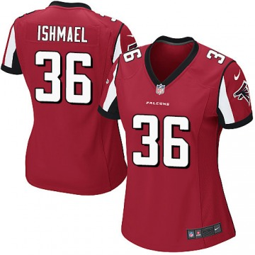Women's Atlanta Falcons Kemal Ishmael Red Game Team Color Jersey By Nike