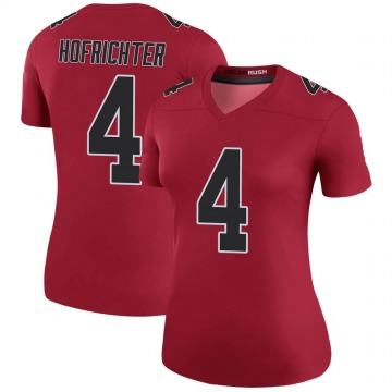 Women's Atlanta Falcons Sterling Hofrichter Red Legend Color Rush Jersey By Nike