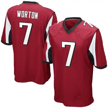 Youth Atlanta Falcons CJ Worton Red Game Team Color Jersey By Nike