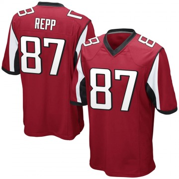 Youth Atlanta Falcons Caleb Repp Red Game Team Color Jersey By Nike