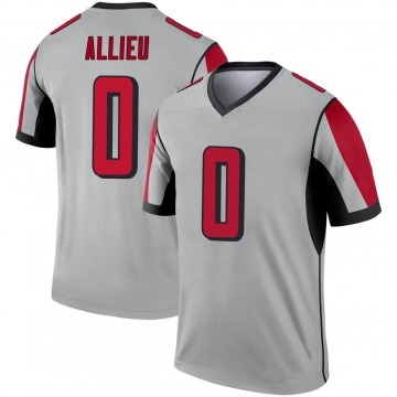 Youth Atlanta Falcons Hinwa Allieu Legend Inverted Silver Jersey By Nike