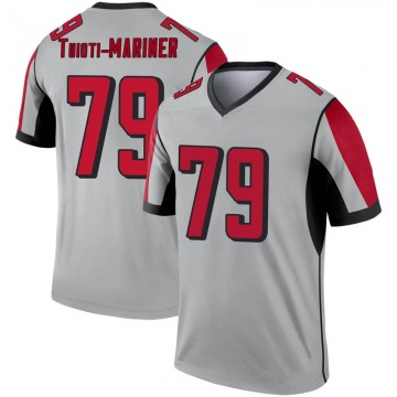 Youth Atlanta Falcons Jacob Tuioti-Mariner Legend Inverted Silver Jersey By Nike