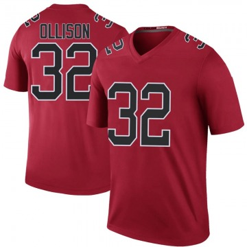 Youth Atlanta Falcons Qadree Ollison Red Legend Color Rush Jersey By Nike